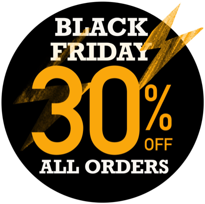 Black Friday SALE 30% OFF All Orders